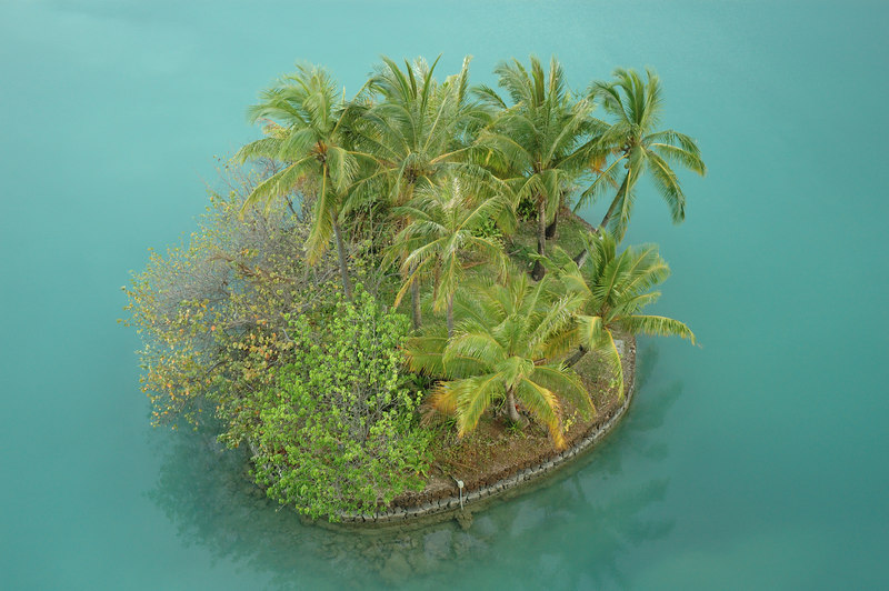 Island in the lagoon
