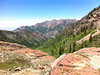 Hiking to Lake Blanche in the Big Cottonwood Canyon area of the Wasatch Mountains