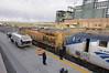 Decoupling our loaner Union Pacific locomotive in Denver, Colorado