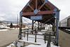 Fraser, Colorado train station platform