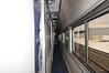 Down the aisle of an Amtrak SuperLiner sleeper car