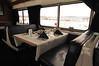 Amtrak SuperLiner Dining Car set for dinner in the Colorado near Fraser