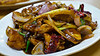 Fish stir-fry with chiles