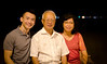 Junkii & his parents at Gurney Drive in Georgetown