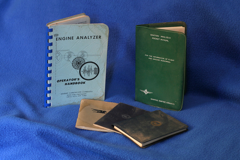 Engine analyzer manuals, plus some Pratt & Whitney pocket reference guides with basic equations, tables, conversion factors, etc.