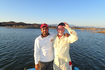David with guide Chiqui