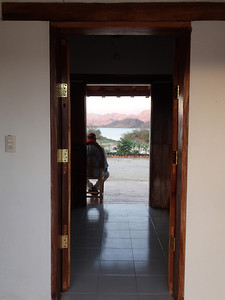View of the Lake through the cabana doors at Picachos