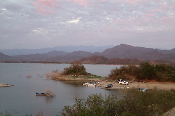 View of the Lake and boats from the lodge at Picachos