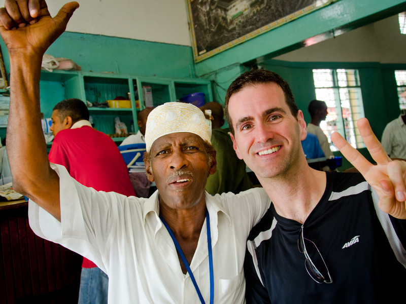 Ron and local guide, Mombasa, Kenya