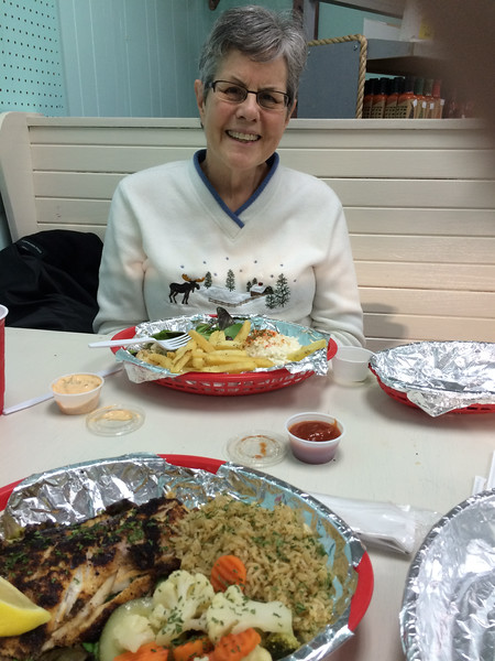 We found a great little seafood joint, Fish Mongers, in a strip mall. No ambiance, just fresh seafood prepared perfectly.