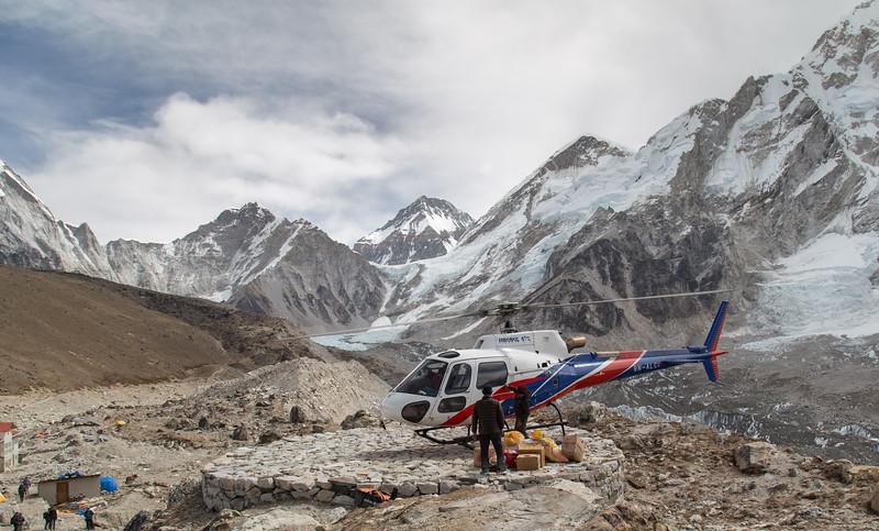 Chopper at Gorak Shep