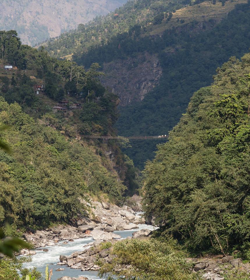 Bridge over Budi Gandaki River