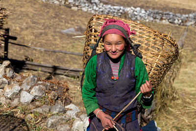 Another Girl with Basket