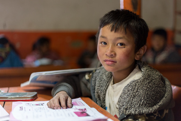 Young Boy at School