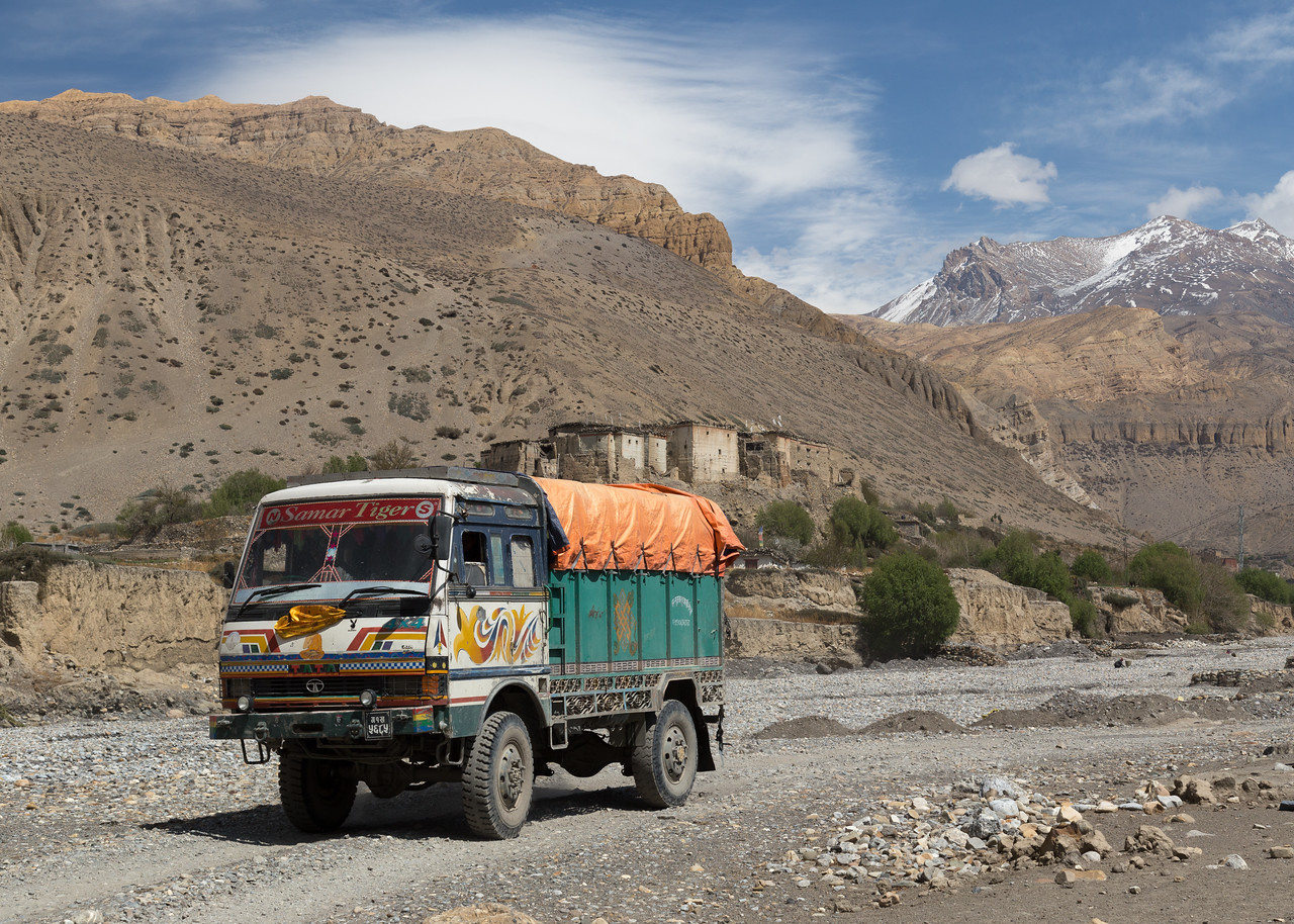 Truck in River Bed
