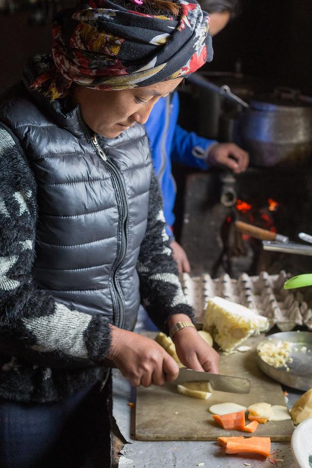 Tika Cutting Veggies