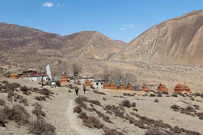 Chortens at Ghar Gompa