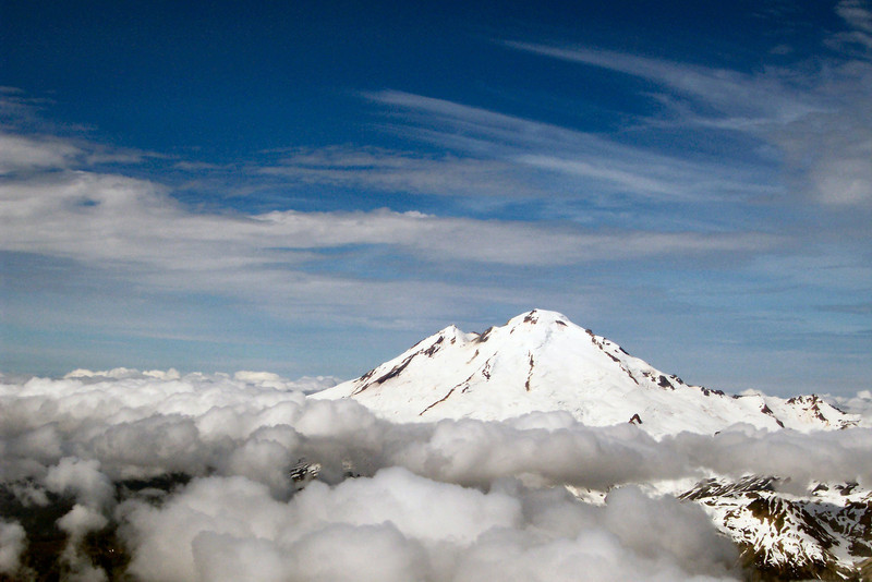 Mount Baker above the Clouds as seen from Mount Shuksan