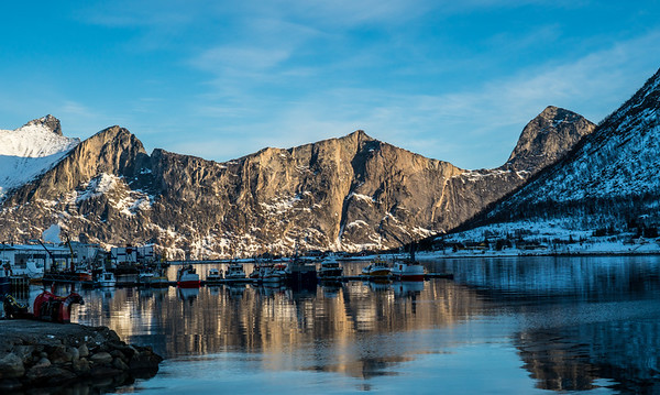 Just a small fishing town on Senja Island
