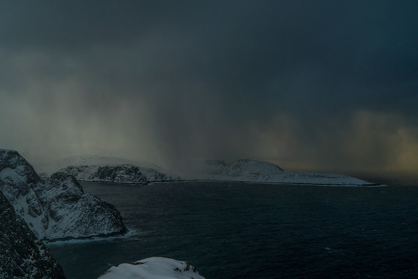 One more look at that view as the snow/wind kept coming in