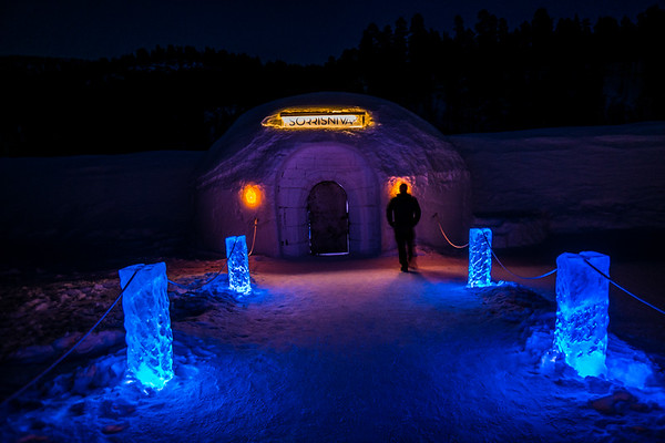 But hours later we got to Sorrisniva Igloo Hotel