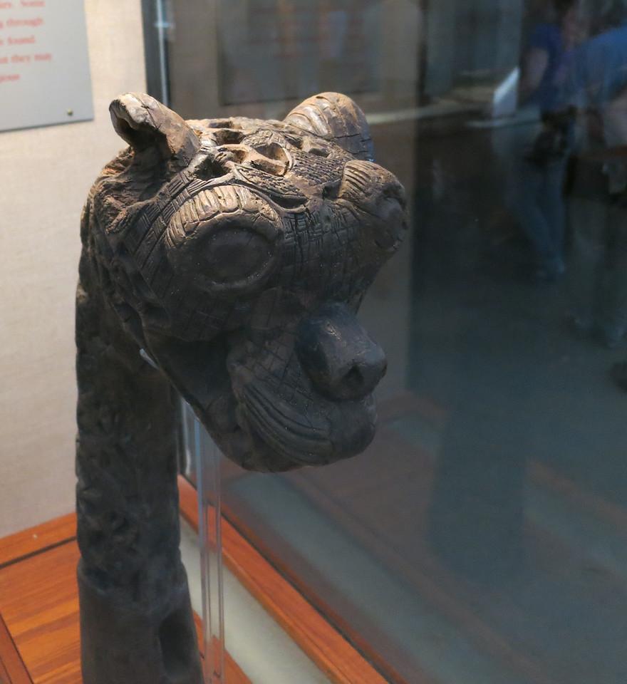 Animal headpost from the Gokstad find