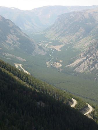 Beartooth Pass switch backs, Montana