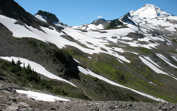 Trail to Mt Baker