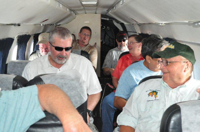 Our charter flight back to Manaus