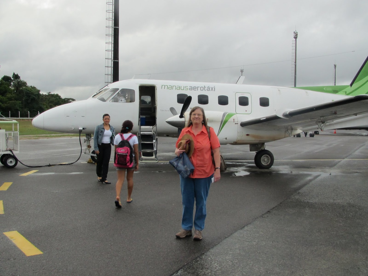 """Our transportation from Manaus to Barcelos - flew on a """"air taxi"""" service with local residents - no one spoke English and we didn't speak Portuguese!"""