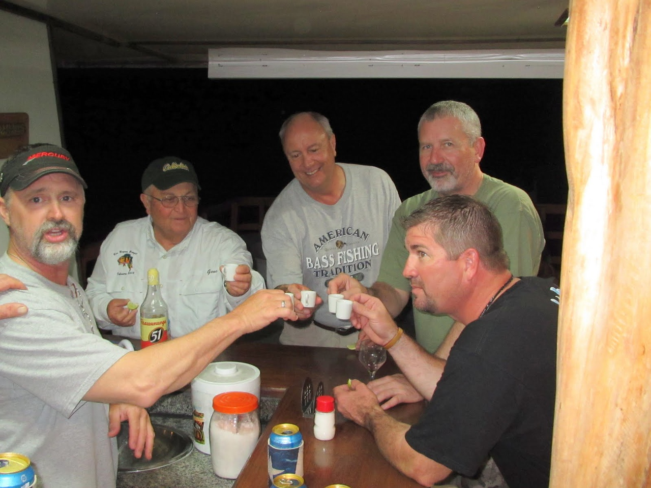 Some of the guys toasting a successful last day