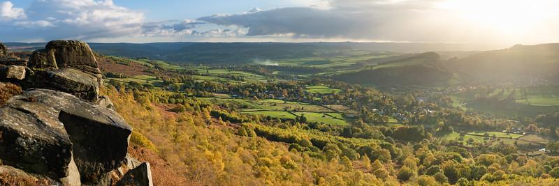 Curbar Edge in Autumn