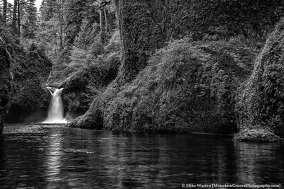 Punchbowl Falls.  Here, I think I like the color version better!!