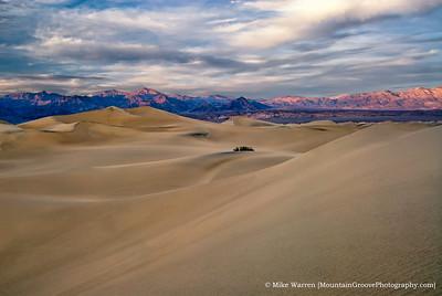 Mesquite Sand Dunes, at dusk