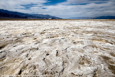 Salt formations, Badwater (282 feet below sea level, the lowest point in North America)