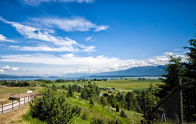 The view of Flathead Lake from Polson Hill