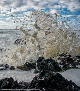Sea foam, Cape Perpetua
