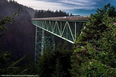 Thomas Creek Bridge, the highest bridge in Oregon.