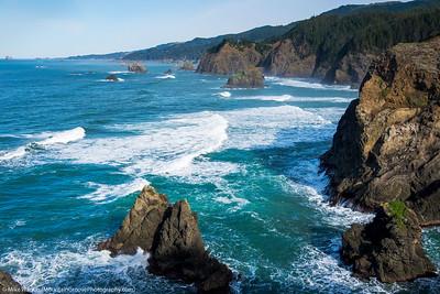 Southern Oregon coast from Indian Sands, Samuel Boardman state park.