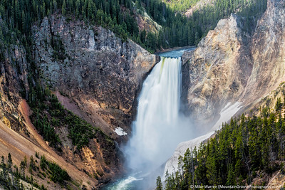 Grand Canyon of the Yellowstone, lower falls.