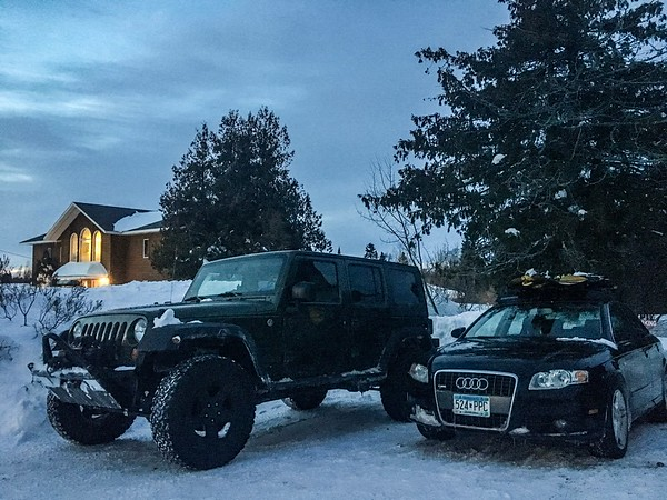 Always a crazy drive up, but them are two sexy whips lol
