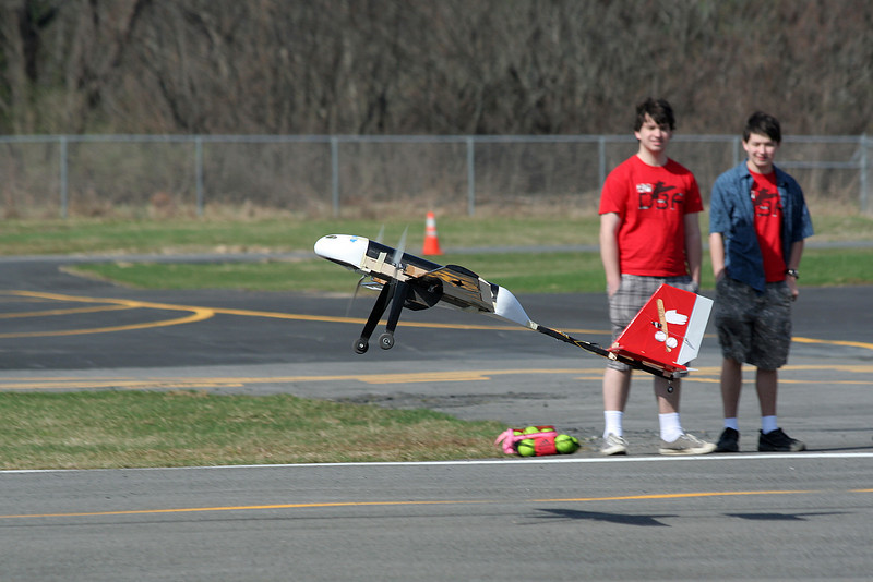 Test flight in South Albany - unloaded.