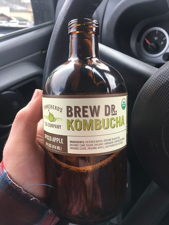 But stopped in Fresco to pick up a few things. I started trying Kombucha on my road trip. Got to say I like it a lot! Need to look into cultivating/brewing my own.
