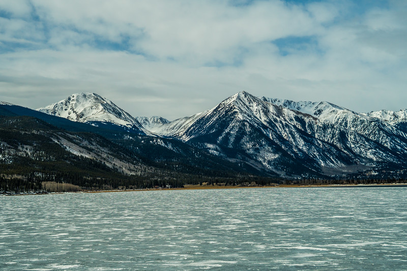 Dang... Twin Lakes is frozen over. I was hoping to get here and paddle