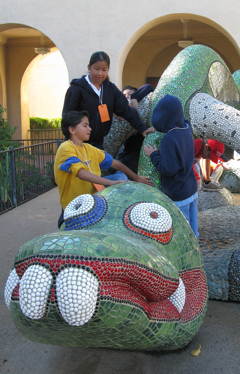 A child friendly sculpture at the Mingei International Museum.