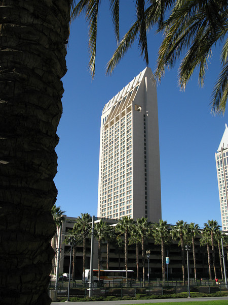 We stayed on the 17th floor of the visible side of this tower.  <br /> December 3, 2007