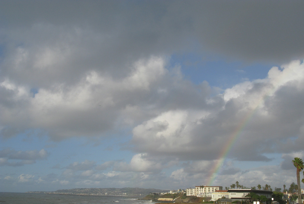 This rainbow was over the Sunset Cliffs.