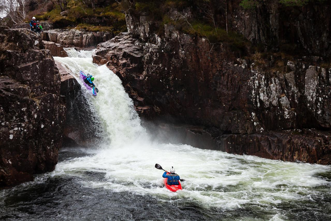 Glen Etive kayakers