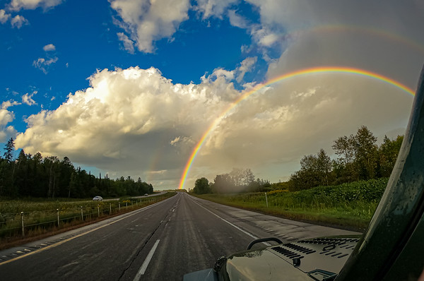 Double Rainbow on the way up! Must be a good sign :)