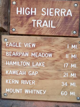 2011 High Sierra Trail